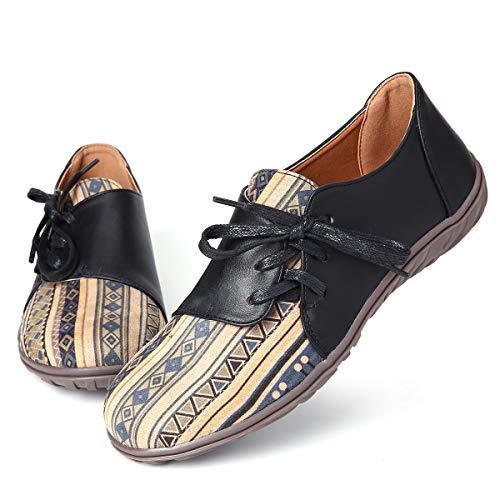 gracosy Mocassins Femme, Chaussures Bateau Plate en PU...