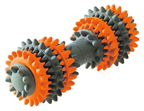 HUNTER TOOTH CLEANER Hundespielzeug, interaktiv, Zahnreinigung, Vollgummi, 18 cm, orange/grau