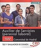 Auxiliar de servicios comunidad de madrid test y simulacros de examen