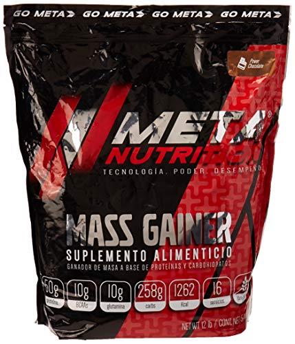 Meta Nutrition Mezcla de Proteínas y Aminoácidos Metamass Gainer, Chocolate, 12 lb