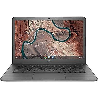 HP 14″ HD (1366 x 768) Touch-Screen Chromebook Laptop, AMD A4-9120C, 4GB DDR4, 32GB eMMC, Wireless-AC, Bluetooth, Webcam, Media Reader, USB-C, Chrome OS, Chalkboard Gray W/ ABYS 64GB Micro SD Card