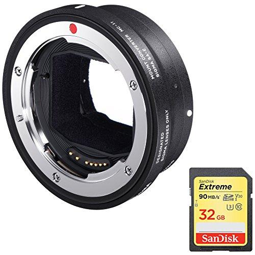 Sigma Mount Converter MC-11 for EF-Mount Lenses to Sony E-Mount Bundle (89E965) + Sandisk Extreme 64GB SDXC UHS-I Memory Card