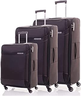 American Tourister Luggage Trolley Bags Set Of 3 Pieces, Black, 86W09004