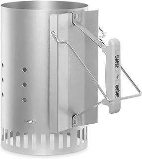 Weber BBQ Charcoal Starter New PRO Rapidfire Chimney Quick Lighter Easy Heat