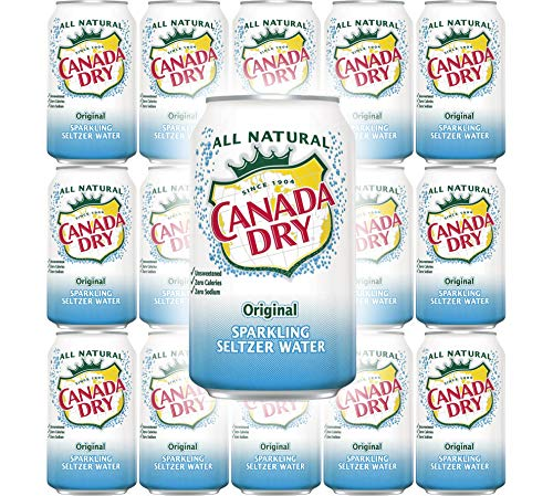 Canada Dry Original Sparkling Seltzer Water, 12oz Can (Pack of 15, Total of 180 Oz)