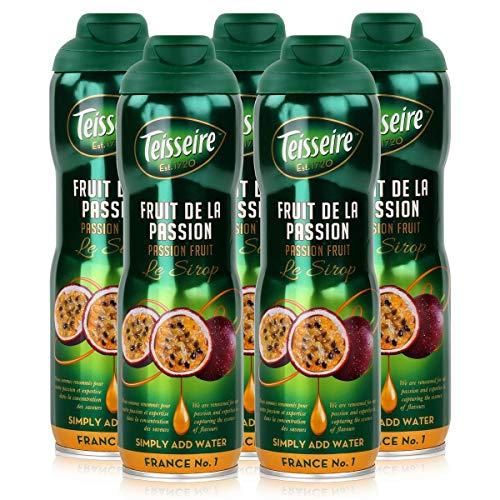 Teisseire Getränke-Sirup Passion Fruit/Passionsfrucht 600ml - Sirup der genauso schmeckt wie die Frucht (5er Pack)