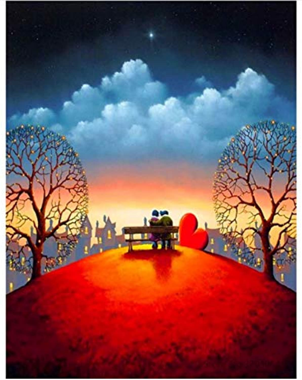 Agolong DIY Malen Nach Zahlen Straße Paar Kuss Acryl Malerei Moderne Bild Wohnkultur Für Wohnzimmer Mit Rahmen 40x50cm B07L8D5PSD | Ein Gleichgewicht zwischen Zähigkeit und Härte