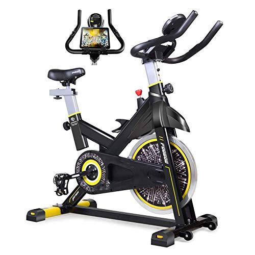 Bicicleta de ciclismo interior, bicicleta de ejercicio interior de la tracción en el cinturón, Pantalla LCD de bicicleta estacionaria for el entrenamiento en bicicleta de entrenamiento de cardio en ca