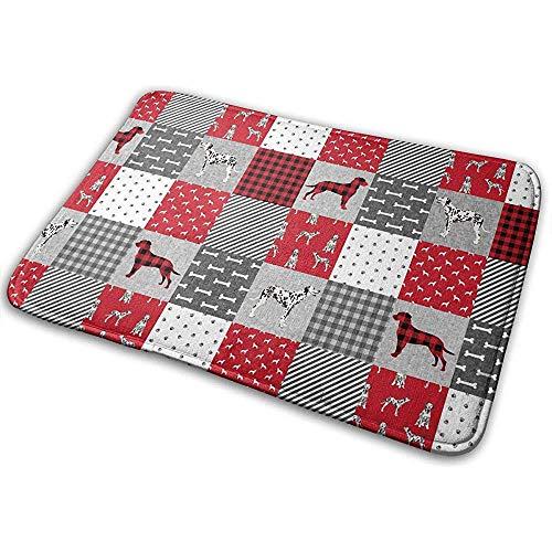 Joe-shop Dalmatie rooster rode kunst hond gooien gebied grond mat accent vloer partij buiten set toilet keuken deurmat