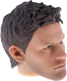 LoveinDIY 1/6 Vivid American Men Head Sculpt for Hot Toys, Phicen 12 inch Body Male Figure A04 - Black