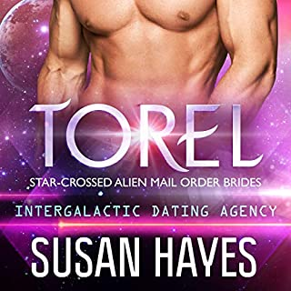 Torel: Star-Crossed Alien Mail Order Brides     Intergalactic Dating Agency              Written by:                                                                                                                                 Susan Hayes                               Narrated by:                                                                                                                                 Tieran Wilder                      Length: 2 hrs and 54 mins     Not rated yet     Overall 0.0