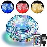 20m LED Schlauch Lichterkette Außen, Lichtschlauch Innen mit 200 LED, 16 Farben 4 Modi Wasserdicht...