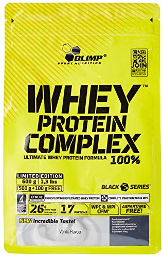 Olimp Nutrition Whey Protein Complex 100% 500 g Plus 100 Grams 17 Scoops Vanilla, P32970