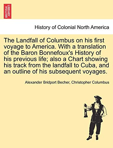 Becher, A: Landfall of Columbus on his first voyage to Ameri
