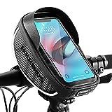 ROCKBROS Bolsa de Manillar para Teléfono Móvil de 6,5 Pulgadas para Bicicleta Ciclismo a Prueba de Agua con Pantalla Táctil para iPhone 7 8 X XR Samsung (Sin Funda)
