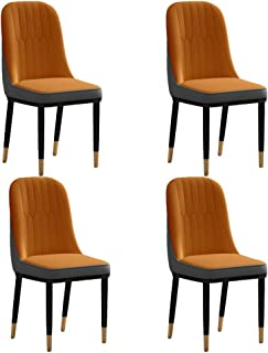 ZHONGXIN Sillas de Comedor Modernas Sillas de Cocina Acolchadas de Cuero sintético con Respaldo Alto para restaurantes domésticos y comerciales (D,4 Pcs)