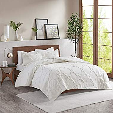 Madison Park Pacey Cotton Chenille Comforter Set White King/Cal King