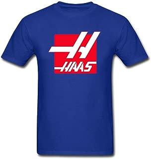 QLJYKJ Haas F1 Team Logo Round Collar Men T Shirt