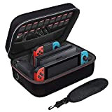 Nintendo Switch Travel Case Nintendo Switch Carry Case Protective Hard Shell Travel Carry Case Compatible with Nintendo Switch Console & Joycon & Accessory with Soft Lining & Shoulder Strap