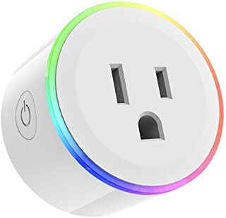 Wi-Fi Smart Plug, Glumes Mini Wifi Outlet Compatible with Alexa, Echo Dot, Each Tap, Google Home, No Hub Required, Remote Control your home appliances from Anywhere, w LED Indicator Light