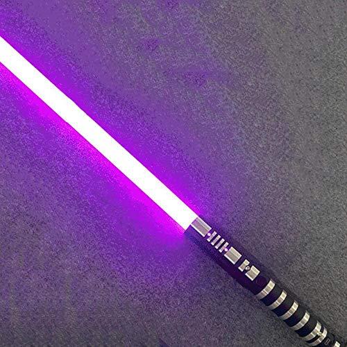 gengyouyuan - Sable de luz con luces y sonido, juguete de Star Wars, para regalo o cosplay, Sin cambio de color, púrpura