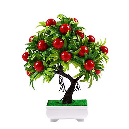 jijuai554 Künstlicher Mini-Obstbaum, Blumentopf, Bonsai, Wohnzimmer, Garten, Schreibtisch, Büro