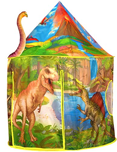 Dinosaur Play Tent   Realistic Dinosaur Design Kids Pop Up Play Tent for Indoor and Outdoor Fun, Imaginative Games, Toys & Gift   Foldable Playhouse + Storage Bag for Boys & Girls