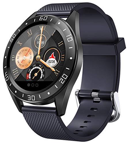 GANG Fitness Tracker Ritmo Cardíaco Presión Arterial de Oxígeno Actividad Rastreador Podómetro a Prueba de Agua Paso Calorie Sleep Monitor Touch Screen Smart Watch Compatible con Io
