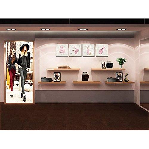 Canvas Wall Art,Fashion Dress,High Heels,Perfume,Clothes shop,shoe store Wall Decor Art,Canvas Prints with Frame,Unique…