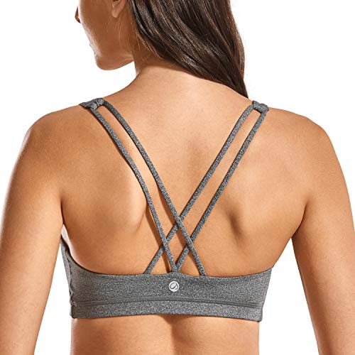 CRZ YOGA - Sujetador Deportivo Yoga Cruzados Espalda Sin Aros para Mujer Heather Multi 2 XS
