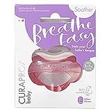 CURAPROX Baby Schnuller, rosa Schnuller, mit Aufbewahrungsbox, Größe 0; 3 bis 7kg bzw. 0-7 Monate, Pacifier, Soothie, rosa, 1 Stück, 22 g
