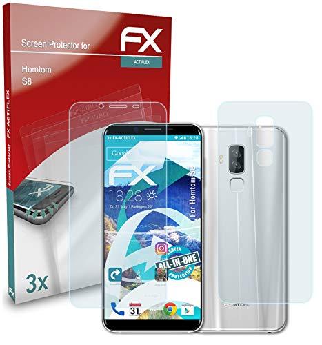 atFolix Schutzfolie kompatibel mit Homtom S8 Folie, ultraklare & Flexible FX Bildschirmschutzfolie (3er Set)
