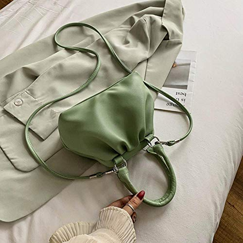 LOH en Cuir Couleur Solide Sacs de Crossbody Femmes épaule Sacs à Main Femme Totes Lady, Vert