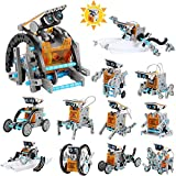 Lucky Doug STEM Robot Toy for Kids, 12 in 1 DIY Science Solar