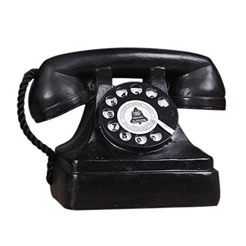 TOOGOO ornamentos artesania de resina retro Accesorios retro de fotografia Sucio de hacer el viejo telefono fijo decoracion de muebles de oficina casa