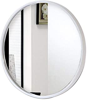 WFWEI Nordic Versatile Mirror ,Bathroom Mirror Wall-Mounted Mirror for Any Bathroom As Well As for The Corridor Or at Home (Color : White, Size : 50cm)