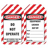 Safety House Loto Lockout Tagout Loto Tags - Set of 100