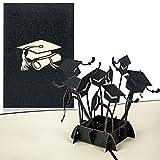 PaperCrush® Pop-Up Karte Glückwunsch zur Prüfung - 3D Glückwunschkarte zum