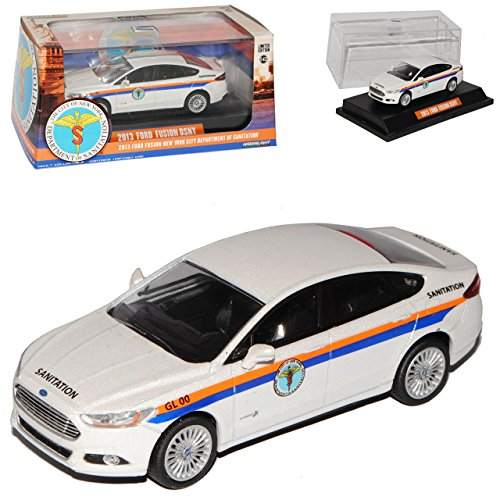 Greenlight Ford Mondeo Limousine Weiss Police Fusion MK5 Ab 2013 1/43 Modell Auto