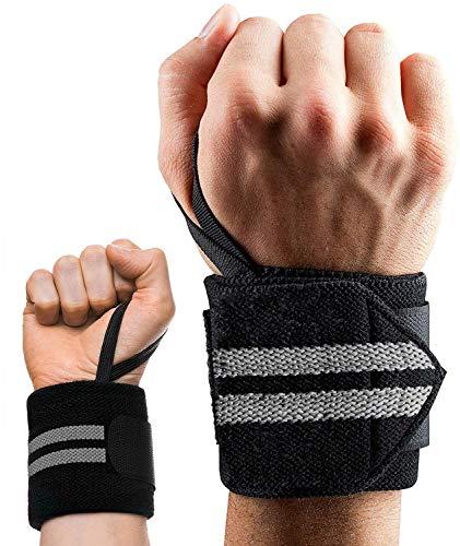 Hossom Handgelenk Bandagen, Wrist Wraps für Frauen und Männer, Handgelenkbandage für Fitness, Handgelenkstütze, Krafttraining & Bodybuilding (1 Paar)