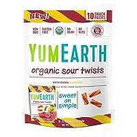 YumEarth オーガニック サワー ツイスト ウォーターメロンレモネード 19.8 g x 10, total 198 g [並行輸入品]