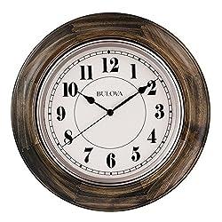 Bulova C4847 Albany Wall Clock, Dark Cherry Finish