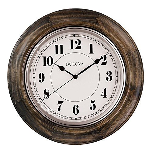Bulova C4847 Albany Wall Clock, Dark Cherry Finish