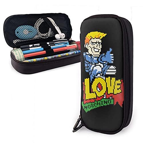 Astuccio PU in pelle impermeabile Mos-Chino 8 Bit Astuccio portapenne portamonete portamonete adatto per il lavoro scolastico