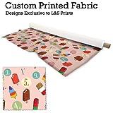 Eisform Pink Retro Design Digital Print Stoff Strick Jersey