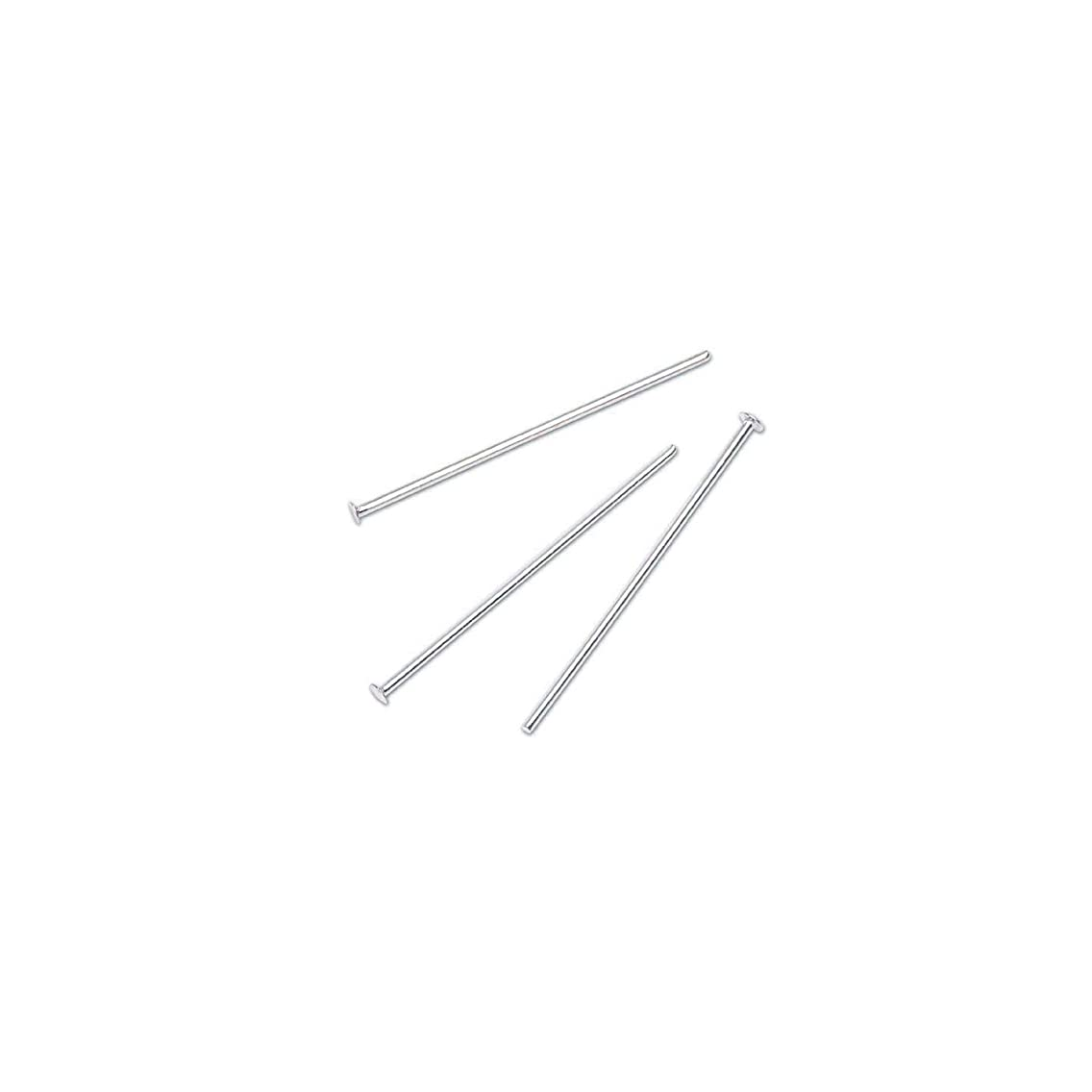 Bulk Buy: Darice DIY Crafts Head Pins Sterling Silver Plated 1 inch 180 pieces (3-Pack) 1990-35