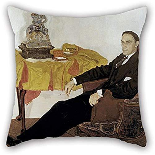 Das Ölgemälde Alexander Jakowlewitsch Golowin - Porträt von Michail Iwanowitsch Terestjenko Kissenbezüge Dekoration Geschenk für Stuhl Couch Esszimmer Bar