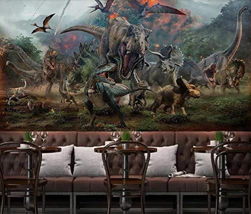 3D vliesbehang foto vlies premium fotobehang behang dinosaurus muurschilderij handgeschilderd kinderkamer muurschilderij 3D wallpaper 430*300 430 x 300.