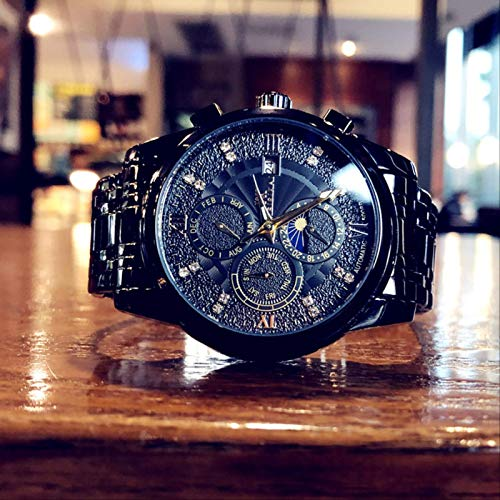 Nueva Tendencia De Moda Reloj para Hombre Reloj Mecánico Totalmente Automático Reloj De Acero Inoxidable Tourbillon Hueco Luminoso Impermeable