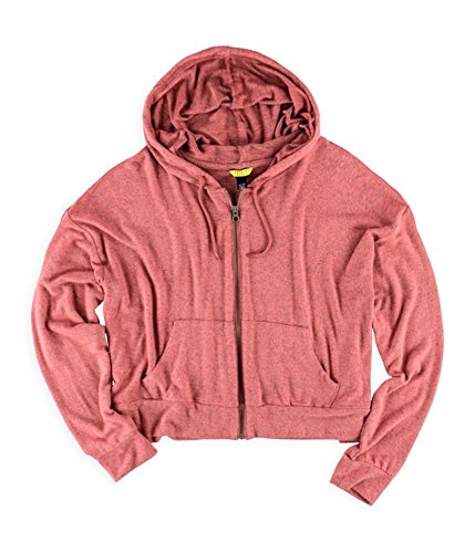 Aeropostale Womens Sleep Pajama Hoodie, Red, Medium